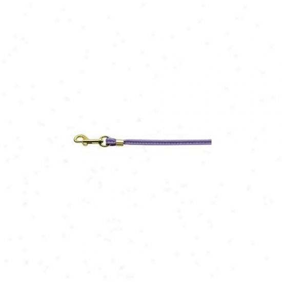 Mirage Pet Products 80-04 Pr Gd Hrw Round Leash Purple Gold Hardware