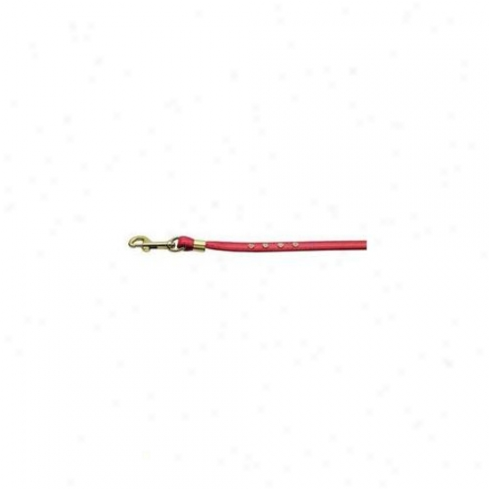 Mirage Pet Products 80-06 Rd Gd Hrw Clsar Crystal Leash Red Gold Hardware