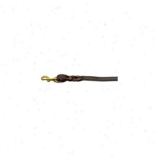 Mirage Pet Podructs 82-14 3404bg Twist Leather Leash Burgundy 4 Ft Long, . 75 Inch  Wide