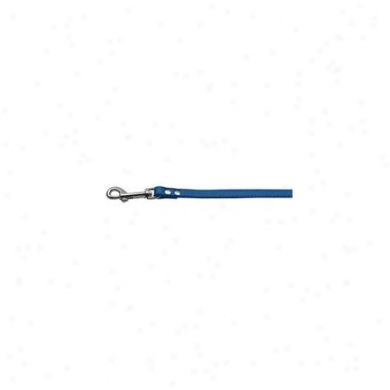 Mirage Pet Products 83-12 34bl Fashionable Leather Leash Blue . 75 Inch  Wide