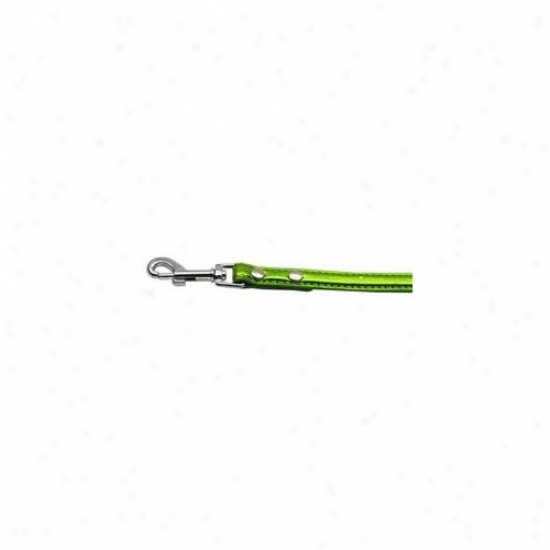 Mirage Pet Products 87-01 12lg Metallic Crystal BoneC ollars Lime Green . 50 Inch  Matching Plain Leash