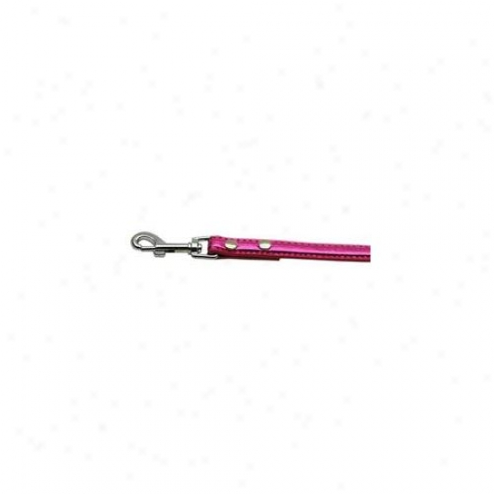 Mirage Pet Products 87-01 34pk Metallic Crystal Bone Collars Pink . 75 Inch  Matching Plain Leash