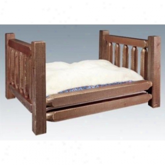 Montana Woodworks Mwhcrdgsl Pet Bed W/ 30x4 Mattres sHomestead Collection Stained And Lacquered