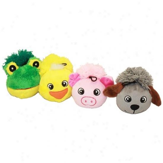 Multipet Fringe Animal-faced Dog Toy