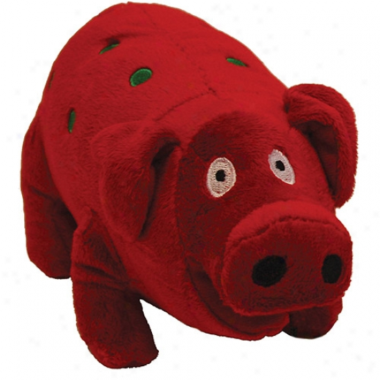 Multipet Holiday Jumbo Plush Pig, Red