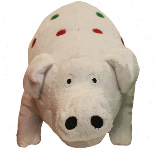 Multipet Holiday Jumbo Plush Pig, White