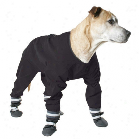Muttluks Dog Jog Rainsuit In Black