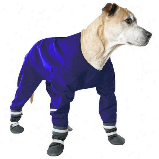 Muttluks Dog Jog Rainsuit In Blue