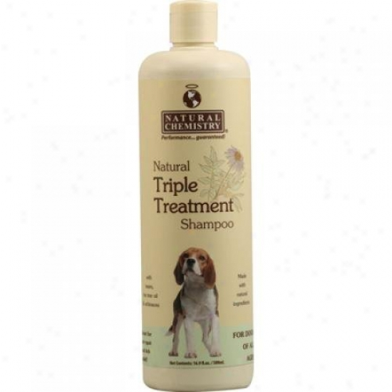 Natural Chemistry Natural Triple Treatment Shampoo For Dogs 16.9 Fl Oz