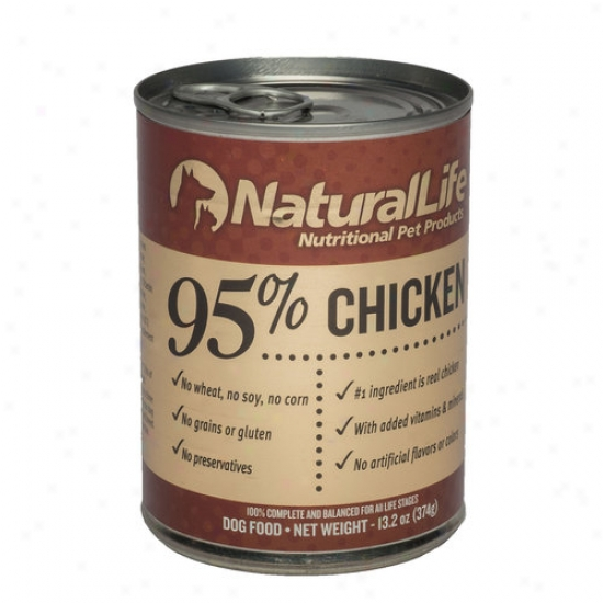 Natural Life 95 Percent Chicken Dog Food, 13.2 Oz