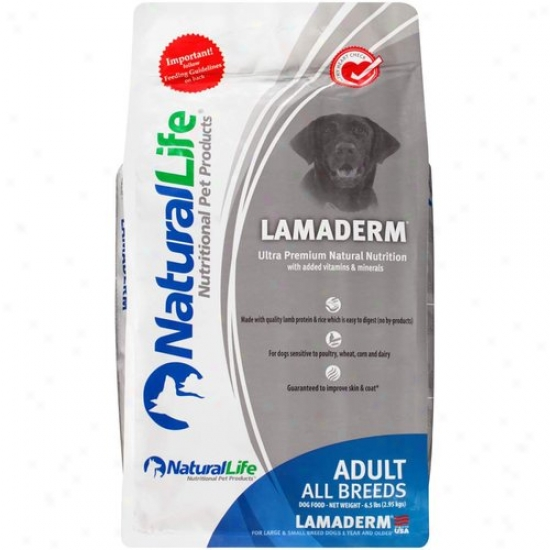 Nathral Life Lamaderm Adult All Breeds Dog Food, 6.5 Lb