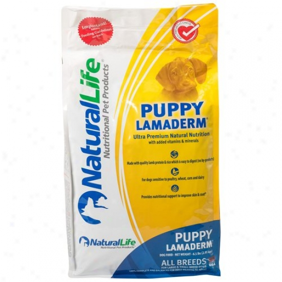 Natural Life Lamaderm Puppy Dog Food, 6.5 Lb