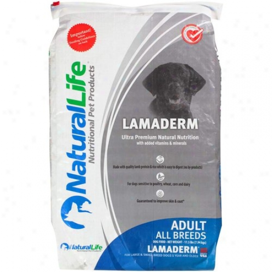 Natural Life Lamaderm Ultra Premium Nautral Nutrition Dog Food, 17.5 Lb