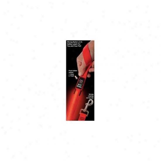 Niteize Ni-nnl-03-10 Nife Dawg - Led 5ft Dog Leash - Red