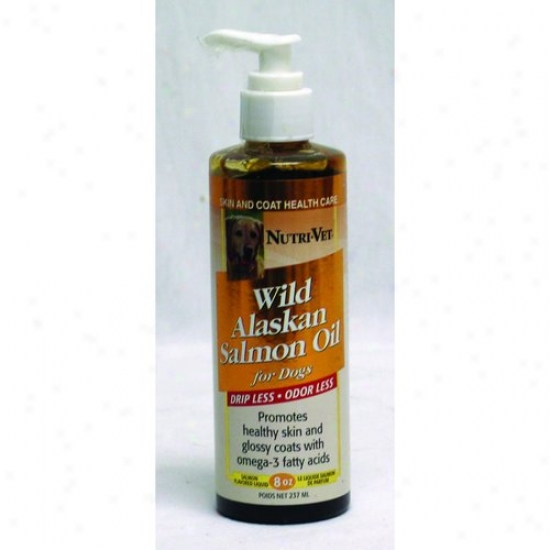 Nutri-vet 60800 Drip Less Wild Alaskan Salmon Oil