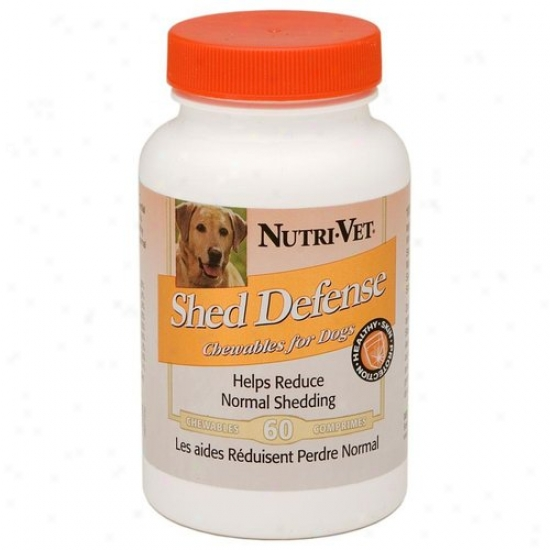 Nutri Vet Nutritionals 03806 60 Count Shed Dfeense Chewable