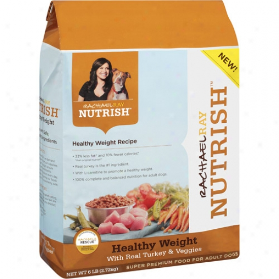 Nutrish Healthy Weight Dog Food With Real Turkey & Veggies, 6 Lb