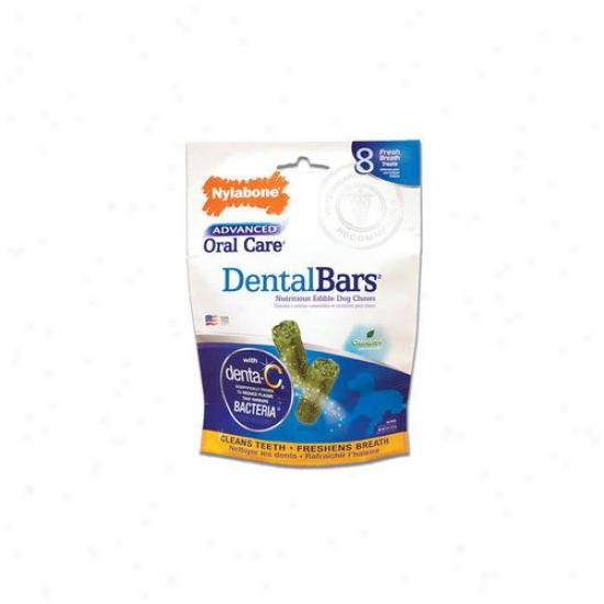 Nylabone Advanced Oral Care Usa Rawhide Dental Bars Dog Treat (8-pack)