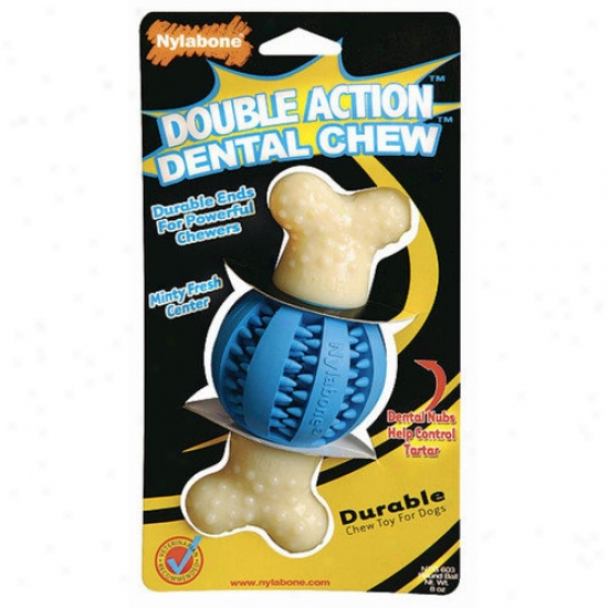 Nylabone Double Action Dental Chew Balk Dog Toy