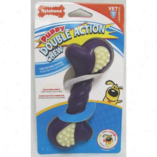 Nylabone Puppy Double Action Dog Chew Toy