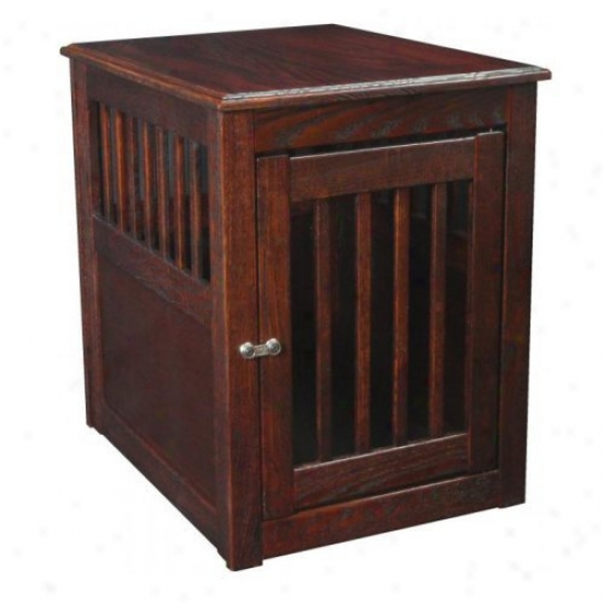 Oak End Table Crate