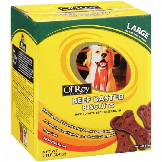 Ol' Roy Beef Basted Biscuit Dog Treats, 7.5 Lb