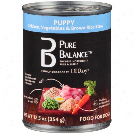 Ol' Roy Pure Balance Pulpy Canned Dog Food, Chicken, Vegetables & Brown Rice Ragout, 12.5 Oz