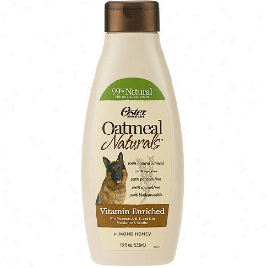 Oster Oat Naturals Vitamin Enriched Dog Shampoo, 18 Fl Oz