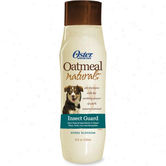 Oster Oatmeal Naturals Insect Guwrd Pet Shampoo, Berry Blossom, 18 Fl Oz