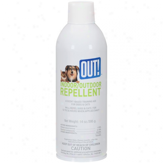Out! Indoor/outdoor Training Helper Repellent For Dogs & Cats, 14 Oz