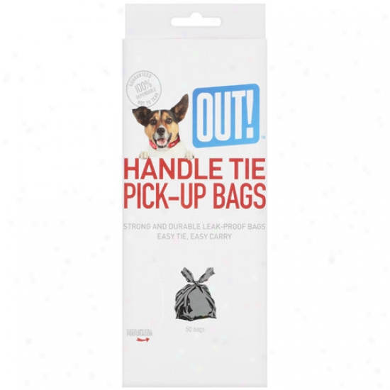 Out! International: Out Handle Tie Pick Up Bags, 50 Ct