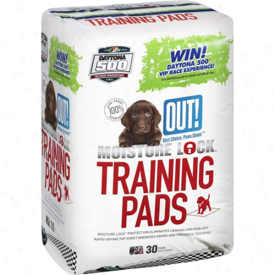 Out! Moisture Lock Training Pads, 30 Count