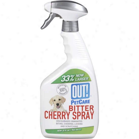 Out! Pet Care Bitter Cherry Spray, 32 Oz