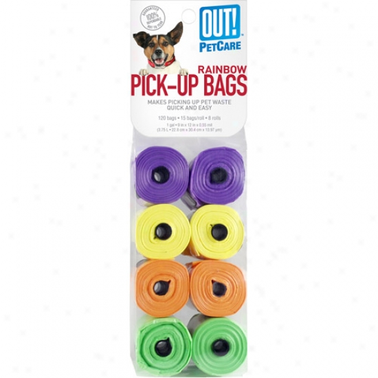 Out! Rainbow Pick-up Bags, 120ct