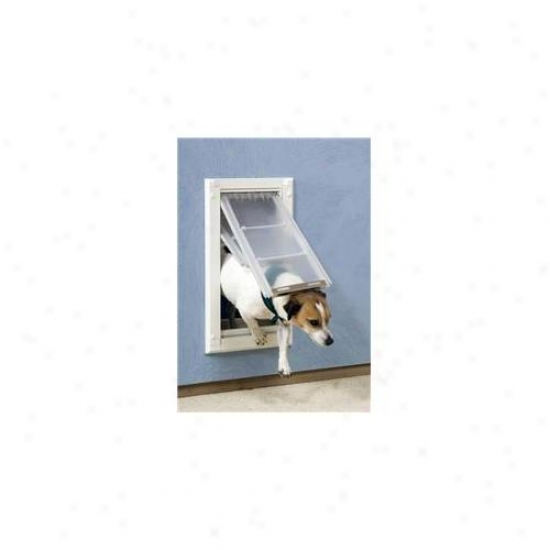 Patio Peaceful 04pp06 2 Enrura Wave Pet Door For Walls Number 06 - Double Flap