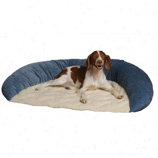 Paus Basic Bolster Dog Bed In Microfiber