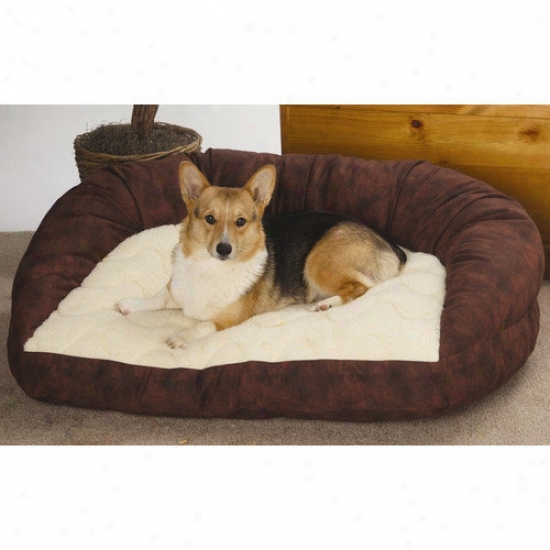 Paus Deluxe Bolster Dog Bed In Twill