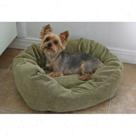 Paus Towne Squard Dog Bed In Microfiber