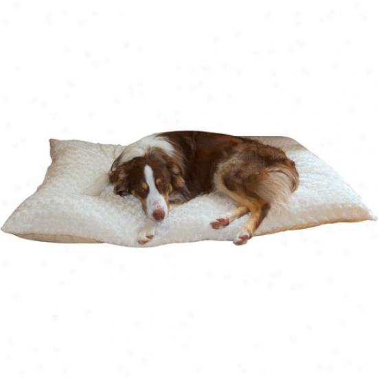 Paw Lavish Cushion Pillow Furry Pet Bed, Latte