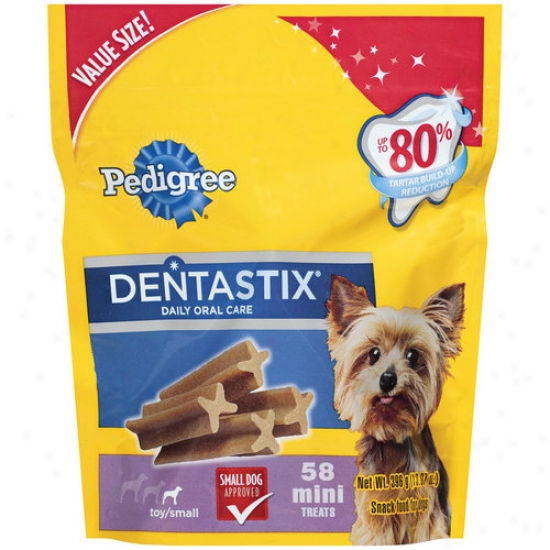 Pedigree Dentastix Daily Oral Care Mini Dog Treats, 58ct