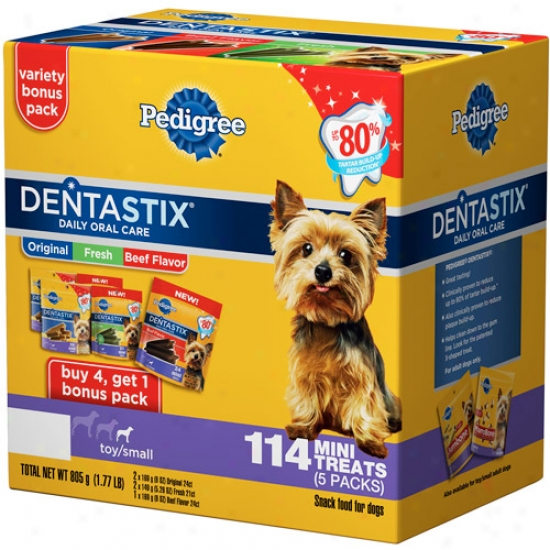 Pedigree Dentastix Toy/small Dog Treats Variety Pack, 114ct