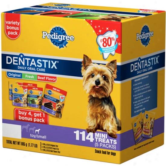 Pedigree Dentastix Toy/small Dog Treats Variety Pack, 114ct