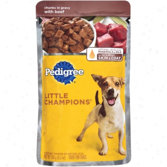 Pedigree Little Champions Dog Food Chunks In Gravy With Beef, 5.3 Oz