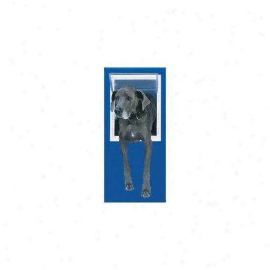 Perfect Pet By Ideal Medium White Aluminum Pet Door