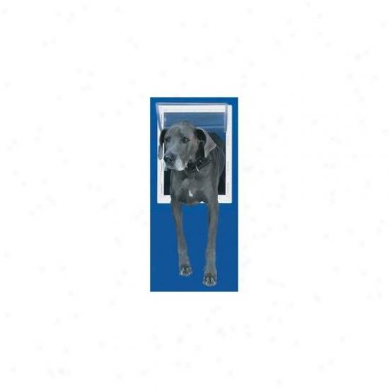 Perfect Pet Along Complete Super Large White Aluminum Pet Door