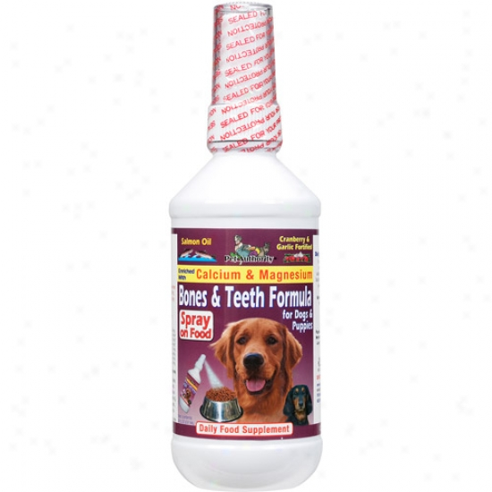 Pet Authority Bones & Teeth Formula For Dogs & Puppies Daily Food Supplement, 8 Oz