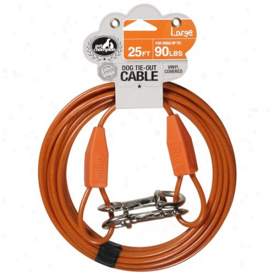 Pet Champion 25 Ft Large Dog Tie-out Cable