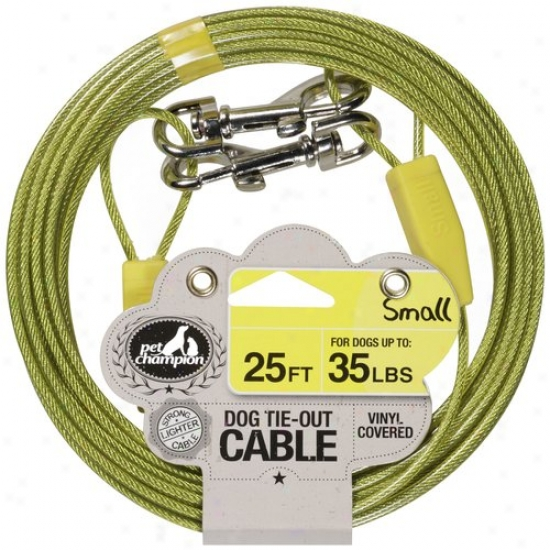 Pet Champion 25 Ft Small Dog Tie-out Cable