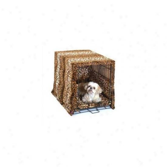Pet Dreams Designer Cratewear 3 Piece Dog Bedding Set In Leopard Print