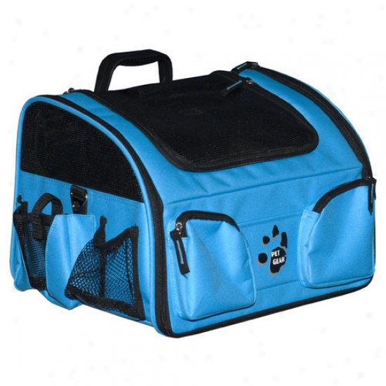 Pet Gear Bike Basket 3-in-1 Pet Carrier In Ocean Blue